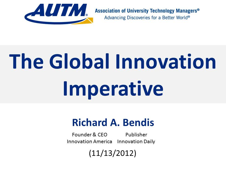 AUTM The Global Innovation Imperative