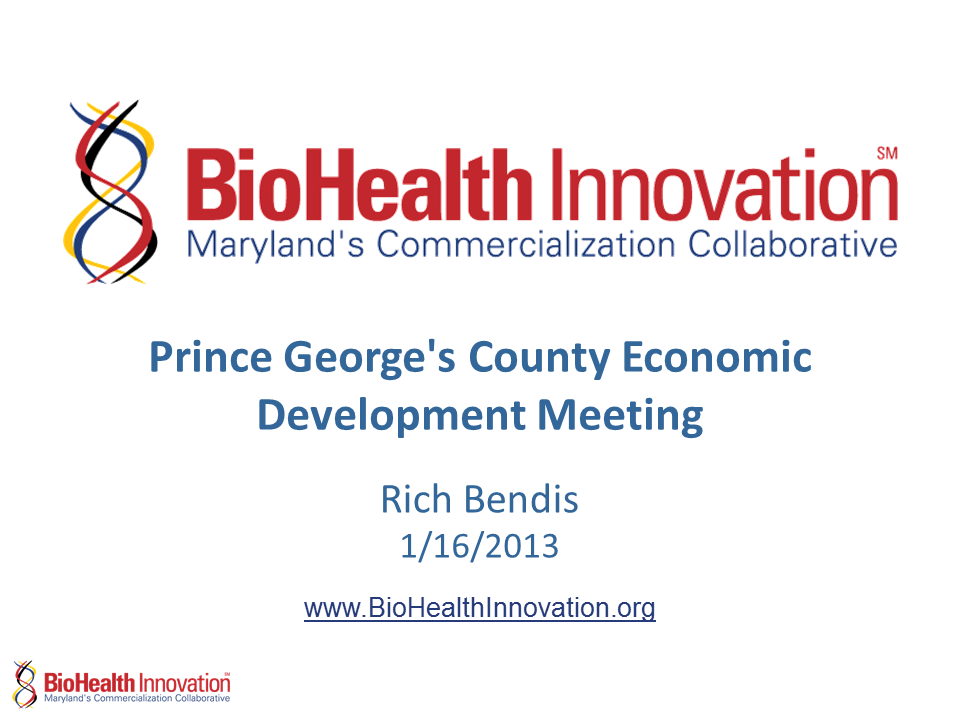 Prince Georges County Economic Development Meeting